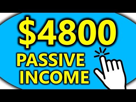 EARN $4800+ Per Month In Passive Income! (Make Money Online)