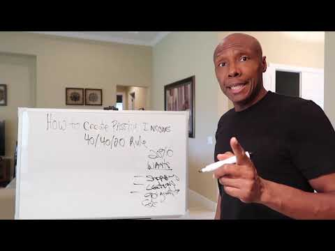 HOW TO CREATE PASSIVE INCOME (40/40/20 Rule)