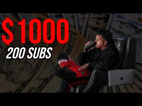 Passive Income: How To Make $1000 Per Month With 200 Subscribers (Make Money Online 2020)
