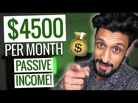 5 Passive Income Ideas (that earn $4500 per month!)