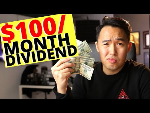 Earning $100/Month Passive Income Dividend Portfolio 2020