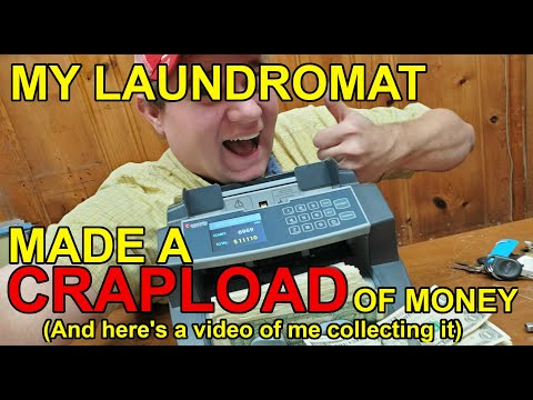 AMAZING Laundromat money collection! Highest passive income EVER!