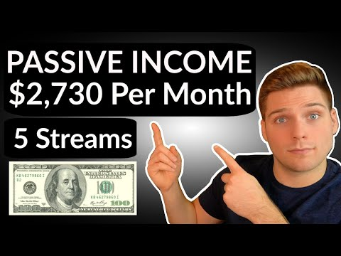 Passive Income: How I make $2,730 a month (5 streams)