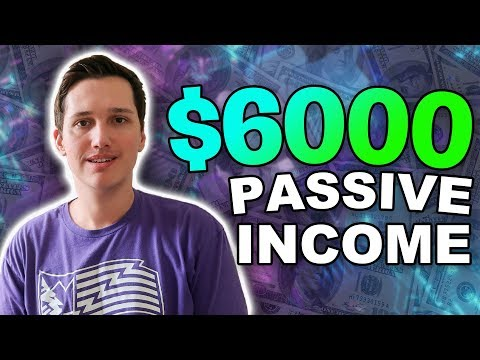 I made $6,000 with this last month in passive income
