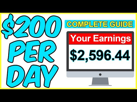 COMPLETE GUIDE TO MAKE $200/DAY ONLINE (PASSIVE INCOME)