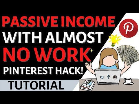 How to Earn Passive Income Online with Very Little Work as a Beginner! (New Pinterest Hack)