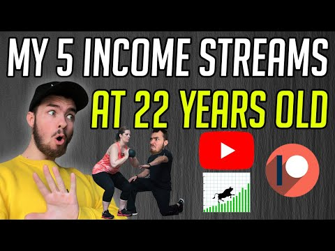 My 5 Income Streams At 22 Years Old! – Passive Income Online!