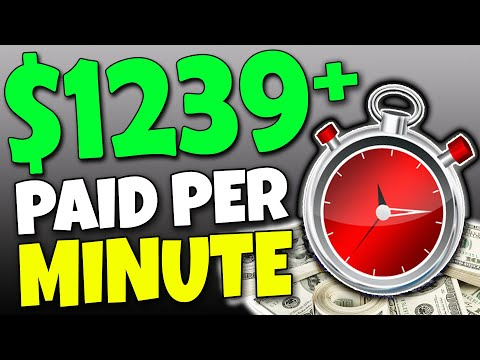 GET PAID Per MINUTE & EARN $1239+ In PASSIVE Income For FREE! (Make Money Online)