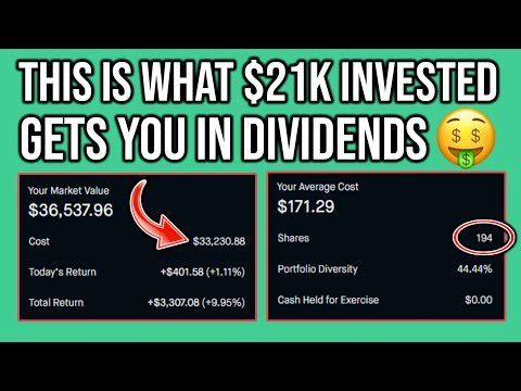 What $21,000 Invested Pays You in Dividends (Easy Passive Income) | Robinhood Investing