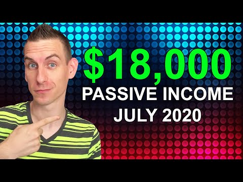 How I Made $18,000 In Passive Income July 2020