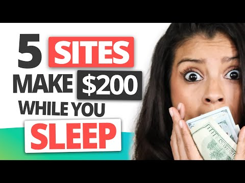 5 Websites To Turn $0 To $200 a day Passive Income (earn $ while you sleep) Passive Income Ideas