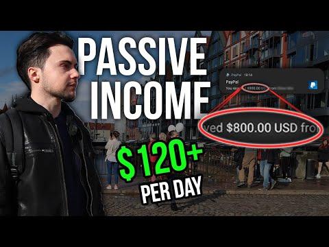 Passive Income: How to Make $120 Per Day in 2020