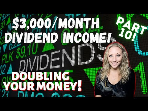 How to Make $3,000/Month in Passive Income! Dividend Investing Series: Part 10! (the Rule of 72!)
