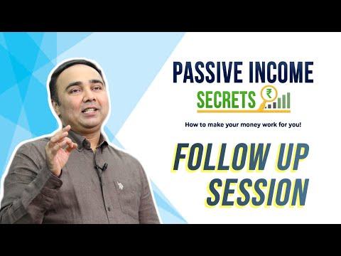 Passive Income Secrets   FOLLOW UP SESSION