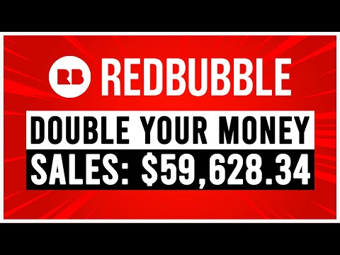 Redbubble passive income (DOUBLE your money) 💰 step by step tutorial