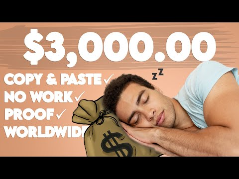 Earn $3,000.00 Copy & Pasting For FREE (NO WORK) | Passive Income 2021