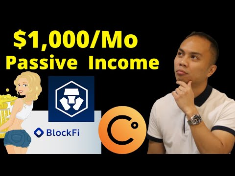 My $290,000 Crypto.com, Celsius, and Blockfi Portfolio | $1,000 Passive Income