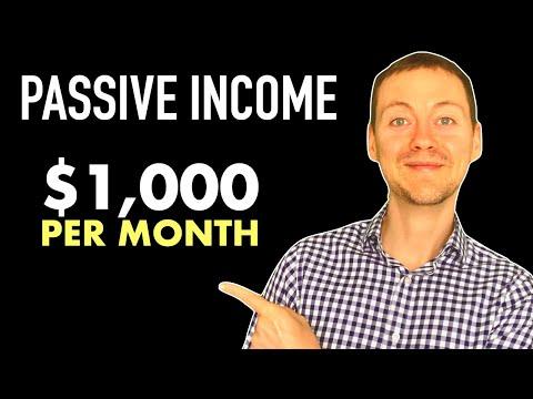 PASSIVE INCOME: 5 Ways To Make $1,000 Per Month