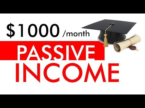 PASSIVE INCOME MASTERCLASS – How to Make $1,000 per Month