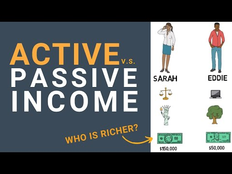 What is PASSIVE Income vs ACTIVE Income? [Cartoon]