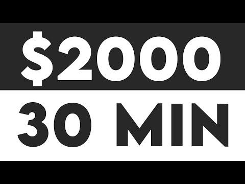 Earn $2,000 Per 30 Min Passive Income For FREE (Make Money Online)